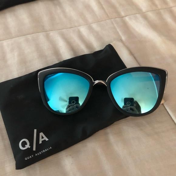 31508f413d60 Quay Australia Accessories | Quay My Girl Blue Mirrored Sunglasses ...